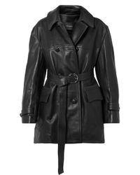 Isabel Marant - Chili Oversized Leather Trench Coat - Lyst