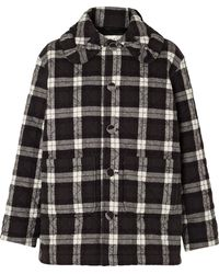 Balenciaga - Scooter Quilted Checked Cotton-flannel Jacket - Lyst