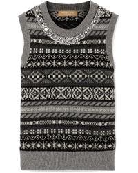 Michael Kors - Geometric Pattern Knitted Top - Lyst