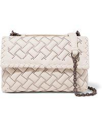Bottega Veneta - Olimpia Medium Studded Quilted Leather Shoulder Bag - Lyst