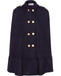 RED Valentino - Double-breasted Wool-blend Felt Cape - Lyst