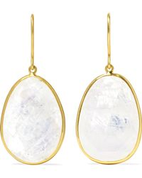 Pippa Small - 18-karat Gold Moonstone Earrings Gold One Size - Lyst
