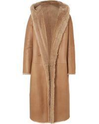 Max Mara - Olbia Reversible Hooded Shearling Coat - Lyst