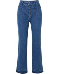 Apiece Apart - Marston High-rise Straight-leg Jeans - Lyst