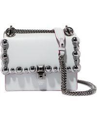 Fendi - Kan I Embellished Leather Shoulder Bag - Lyst
