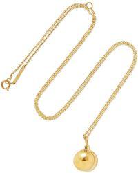 Grace Lee - Petite O Locket 14-karat Gold Necklace - Lyst