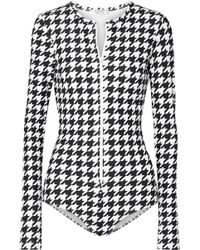 Cover - Houndstooth Swimsuit - Lyst