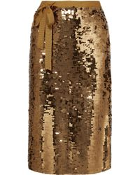 J.Crew - Yams Grosgrain-trimmed Sequined Crepe Skirt - Lyst