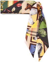 Burberry - Printed Silk-twill Scarf - Lyst