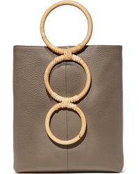 Carolina Santo Domingo - Petra Mini Textured-leather Tote - Lyst