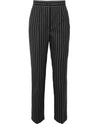 Dolce & Gabbana - Pinstriped Wool-blend Straight-leg Pants - Lyst