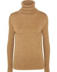 Vanessa Seward - Etoile Metallic Ribbed Wool-blend Turtleneck Sweater - Lyst