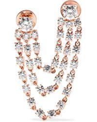 Anita Ko - Bianca 18-karat Rose Gold Diamond Earring - Lyst