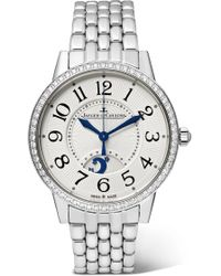 Jaeger-lecoultre - Rendez-vous Night & Day 34mm Medium Stainless Steel And Diamond Watch - Lyst