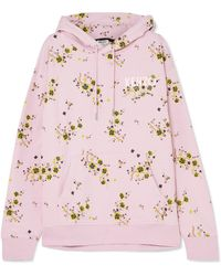 KENZO - Oversized Floral-print Cotton-jersey Hoodie - Lyst