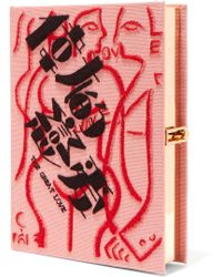 Olympia Le-Tan - + Wendy Yu The Great Love Embroidered Canvas Clutch - Lyst