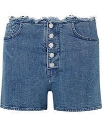 Marques'Almeida - + 7 For All Mankind Frayed Denim Shorts - Lyst