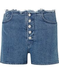 Marques'Almeida - + 7 For All Mankind Jeansshorts Mit Fransen - Lyst