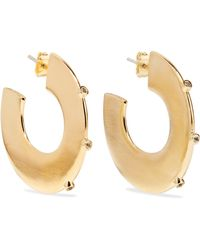 Elizabeth and James - Joni Gold-plated Topaz Hoop Earrings - Lyst