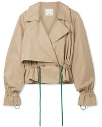 Tibi - Finn Cropped Cotton-twill Jacket - Lyst