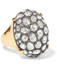 Fred Leighton - Collection Gold, Silver And Diamond Ring - Lyst