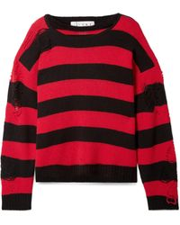 Tre by Natalie Ratabesi - Love Distressed Striped Cashmere Sweater - Lyst