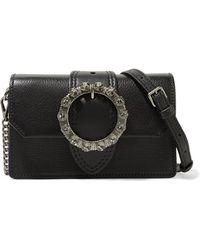 Miu Miu - Miu Lady Embellished Smooth And Textured-leather Shoulder Bag - Lyst