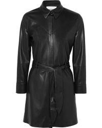 Nanushka - Gisele Belted Faux Leather Mini Dress - Lyst