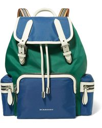 Burberry - Leather-trimmed Shell Backpack - Lyst
