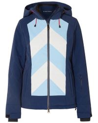 Perfect Moment - Tignes Hooded Striped Jacket - Lyst