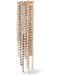 Lanvin - Fringed Gold-tone Crystal Brooch - Lyst
