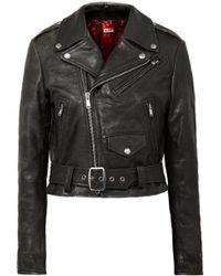 RE/DONE - Moto Racer Distressed Leather Biker Jacket - Lyst