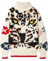 Sonia Rykiel - Wool-jacquard Turtleneck Sweater - Lyst