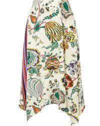 Tory Burch - Marie Printed Silk Crepe De Chine Midi Skirt - Lyst