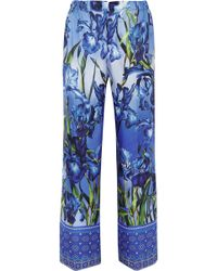 F.R.S For Restless Sleepers - Etrere Printed Silk-twill Straight-leg Trousers - Lyst