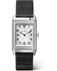 Jaeger-lecoultre - Reverso Classic 21mm Small Stainless Steel And Alligator Watch - Lyst