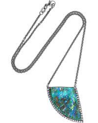 Kimberly Mcdonald - 18-karat Blackened White Gold Multi-stone Necklace - Lyst