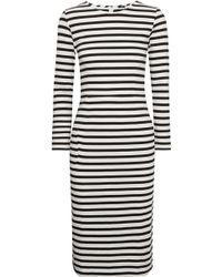 J.Crew - Chloe Striped Cotton-jersey Dress - Lyst