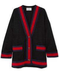 Gucci - Grosgrain-trimmed Cotton-blend Tweed Cardigan - Lyst