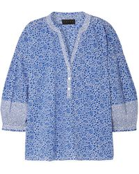 HATCH - Olivia Printed Cotton-voile Blouse - Lyst