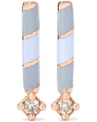Alice Cicolini - Memphis Candy Enameled 14-karat Gold Diamond Earrings - Lyst