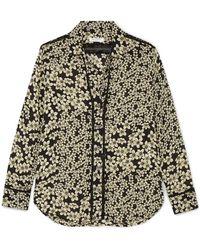 Equipment - Leema Floral-print Silk-georgette Shirt - Lyst