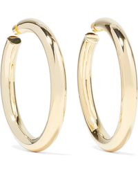 Jennifer Fisher - Mamma Jamma Gold-plated Hoop Earrings Gold One Size - Lyst