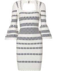 Hervé Léger - Stretch Jacquard-knit Dress - Lyst