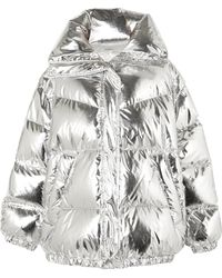 MM6 by Maison Martin Margiela - Oversized Quilted Metallic Shell Down Jacket - Lyst