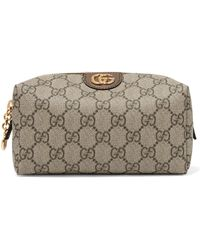 Gucci - Ophidia Medium Textured Leather-trimmed Printed Coated-canvas Cosmetics Case - Lyst