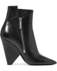 Saint Laurent | Niki Leather Ankle Boots | Lyst