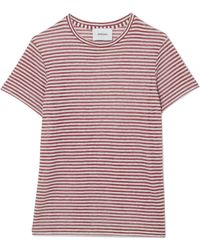 Nanushka - Guy Striped Linen-blend Jersey T-shirt - Lyst