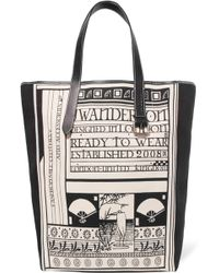 JW Anderson - Leather-trimmed Printed Canvas Tote - Lyst