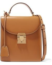 Mark Cross - Uptown Leather Shoulder Bag - Lyst